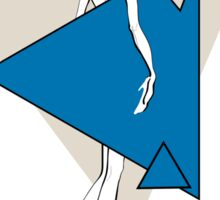 Paper doll with triangles Sticker