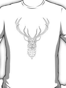 Christmas deer head abstract geometric pattern T-Shirt
