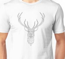 Christmas deer head abstract geometric pattern Unisex T-Shirt