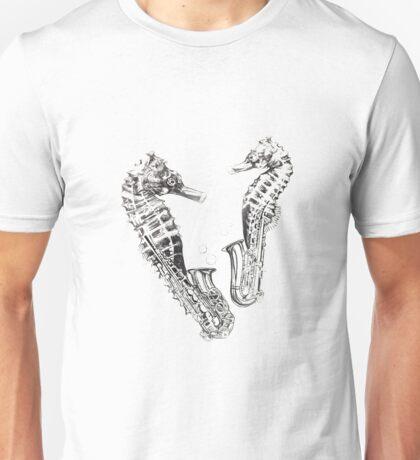 Saxophone sea horse Unisex T-Shirt