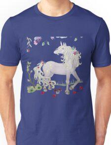 Unicorn with flowers Unisex T-Shirt