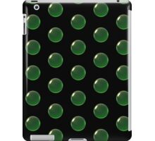 smaller green crystal ball array pattern iPad Case/Skin