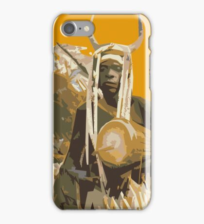 African with a drum in traditional costume iPhone Case/Skin