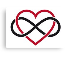 Infinity heart, never ending love Canvas Print