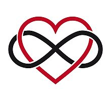 Infinity heart, never ending love Photographic Print