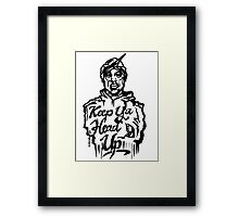 Pac - Keep Ya Head Up Framed Print