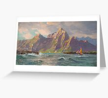William Trost Richards () View of Loften Islands, ..  Greeting Card