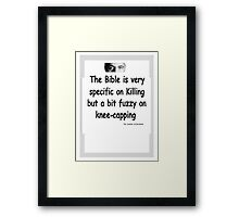 The Rev Book Killing / Knee-capping Framed Print