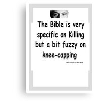 The Rev Book Killing / Knee-capping Canvas Print