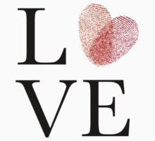 Love with red fingerprint heart Kids Clothes