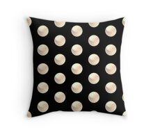 smaller white dot ball array pattern Throw Pillow