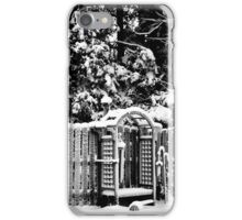 Black and White Snow  iPhone Case/Skin