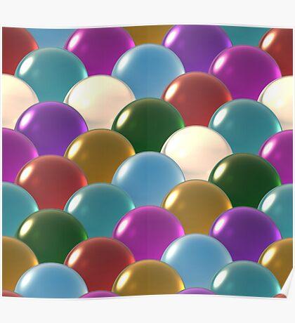 crystal ball overlap pattern  Poster