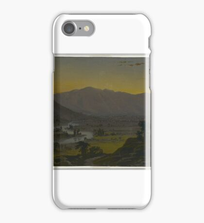 William Trost Richards (American, . River Valley in the Moonlight, ca.  iPhone Case/Skin