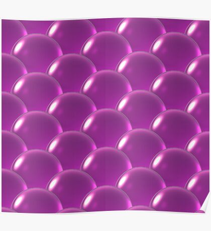 pink crystal ball overlap pattern  Poster