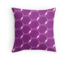 pink crystal ball overlap pattern  Throw Pillow