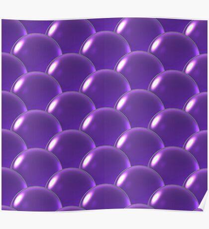 puple crystal ball overlap pattern  Poster