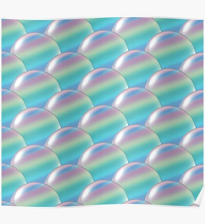 rainbow crystal ball overlap pattern  Poster