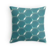 sea blue crystal ball overlap pattern Throw Pillow