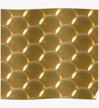 yellow crystal ball overlap pattern Poster