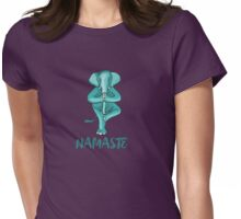 elefant yoga baum namaste buddha humor türkis stehen balance Womens Fitted T-Shirt