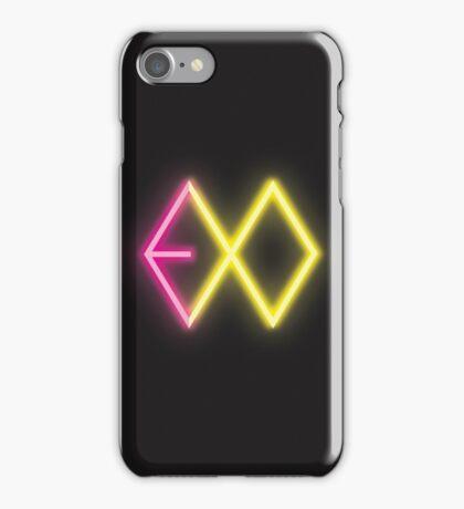 Exo Logo Neon iPhone Case/Skin