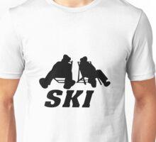 Ski, skiing, après ski, freeski, winter, snow, mountain, sport Unisex T-Shirt
