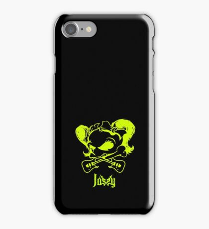 Jassy JJ's One Girl Band - GREEN SKULL by Mien Wayne iPhone Case/Skin