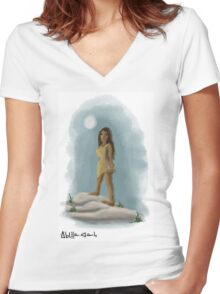 Pocahontas  Women's Fitted V-Neck T-Shirt