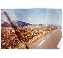 Road Tripping in Scandinavia - Jotunheimen NP Through Windshield Poster
