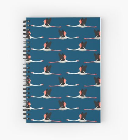Pattern with flamingos Spiral Notebook