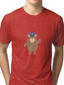 Police Office Brown Bear Tri-blend T-Shirt