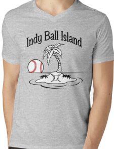 Indy Ball Island Mens V-Neck T-Shirt