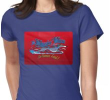 Blazin' Blue Womens Fitted T-Shirt