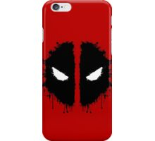 Deadpool Rorschach 2 iPhone Case/Skin