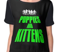 PUPPIES AND KITTENS II Chiffon Top