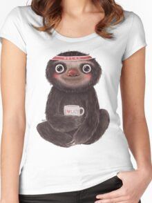 Sloth I♥lazy Women's Fitted Scoop T-Shirt