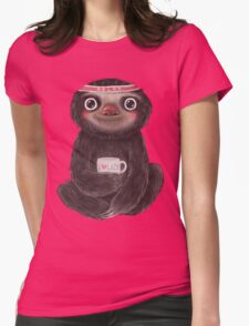 Sloth I♥lazy Womens Fitted T-Shirt