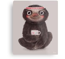 Sloth I♥lazy Metal Print