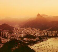 Rio de Janeiro Skyline With Christ the Redeemer Shot on Film Sticker