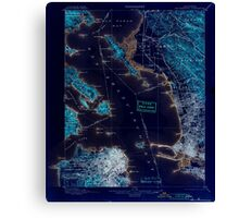 USGS TOPO Map California CA San Francisco 298892 1899 62500 geo Inverted Canvas Print
