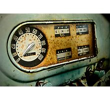 Vintage Truck Dashboard Photographic Print