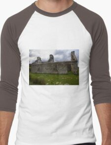 Ruined Cottage at Cashelnagor, County Donegal, Ireland Men's Baseball ¾ T-Shirt