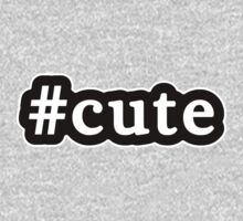 Cute - Hashtag - Black & White Kids Tee