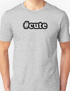Cute - Hashtag - Black & White Unisex T-Shirt