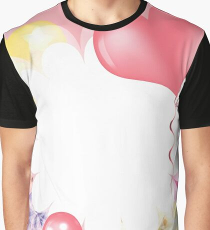 Hearts and Balloons Graphic T-Shirt