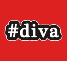 Diva - Hashtag - Black & White Baby Tee