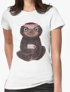 Sloth I♥yoga Womens Fitted T-Shirt