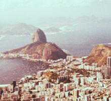 Rio de Janeiro - View on Sugarloaf Shot on Film (Brazil) Sticker