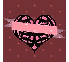 Heart and Ribbon Photographic Print